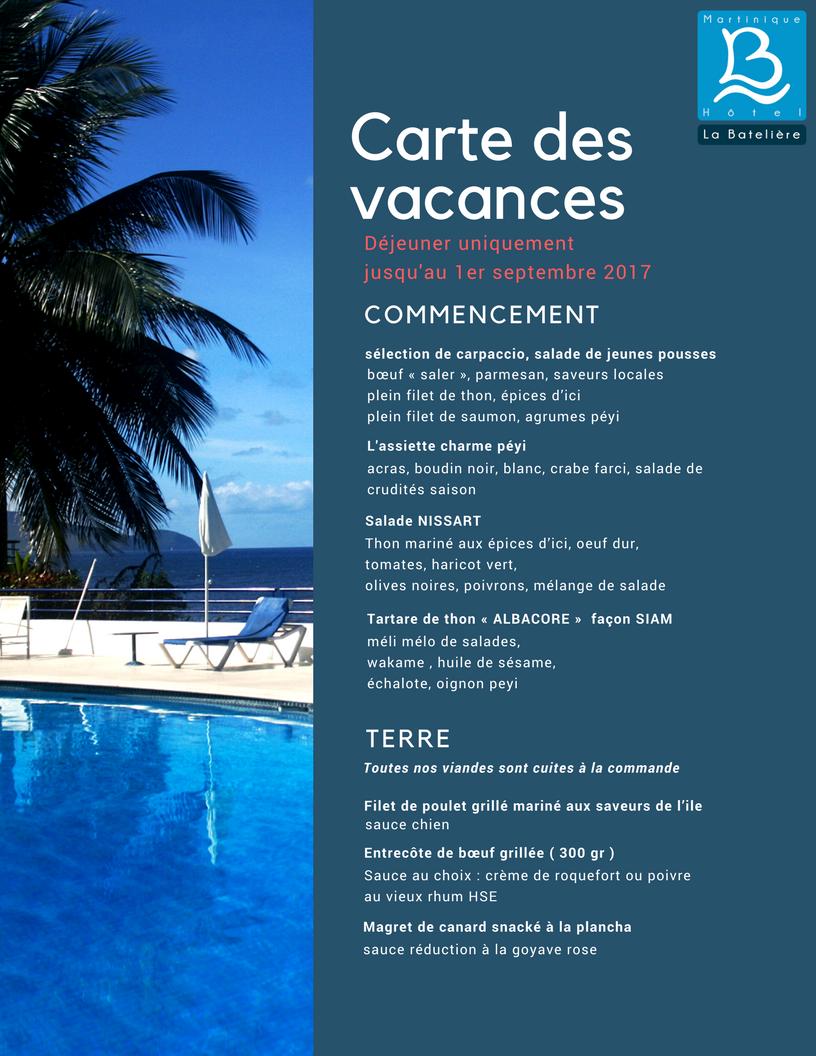 Carte Grandes Vacances 2017