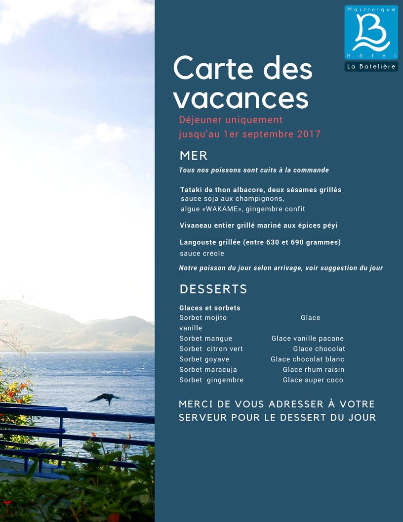 Carte Grandes Vacances 2017 2